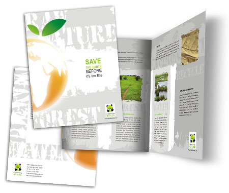 Complete Brochure  View with Layout For Save Earth