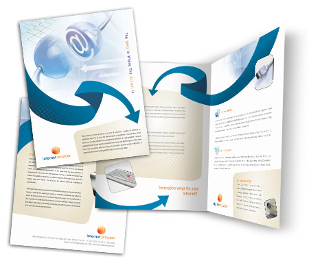 Complete Brochure  View with Layout For Internet Providers