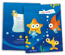 Educational Fun Play School brochure-templates