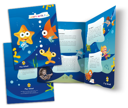 Complete Brochure  View with Layout For Fun Play School
