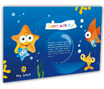 Post Card Templates fun play school