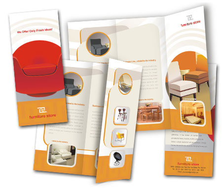 Complete Brochure  View with Layout For Furniture Store
