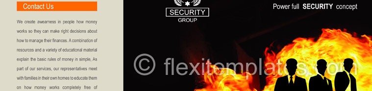Actual Brochure  Design For Fire Security System