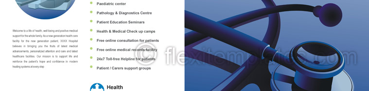 Actual Brochure  Design For Health Center