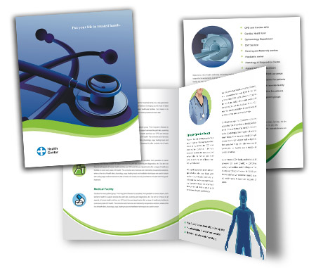 Complete Brochure  View with Layout For Health Center