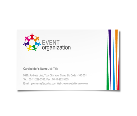 Complete Business Card  View with Layout For Event Management Centre