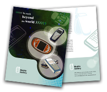 BrochureTemplates Communications Mobile Handsets One Fold
