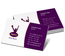 Business Card Templates sport club