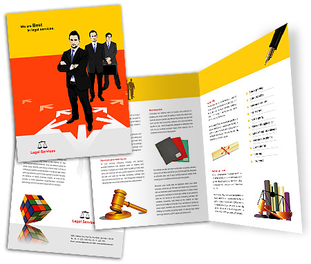 Complete Brochure  View with Layout For Legal Services