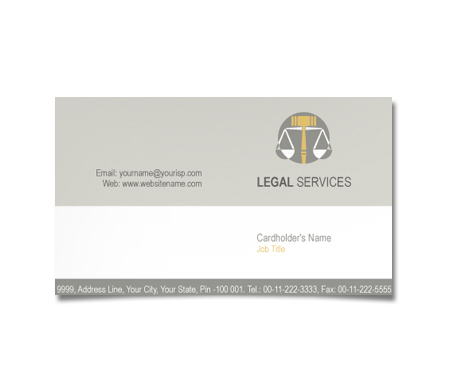 Complete Business Card  View with Layout For Legal Service