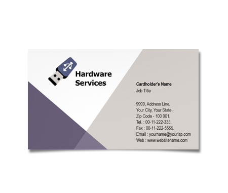 Complete Business Card  View with Layout For Computer Hardware Deals