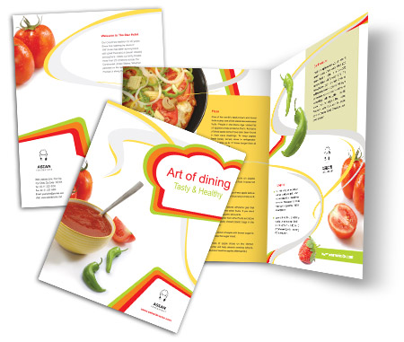 Complete Brochure  View with Layout For Asian Food Online