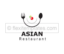 Logo Templates asian table restaurant