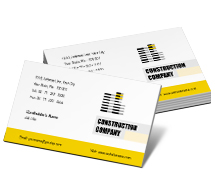 Business Card Templates building contract