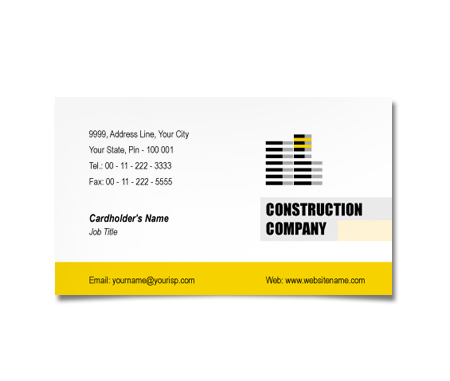 Complete Business Card  View with Layout For Building Contract