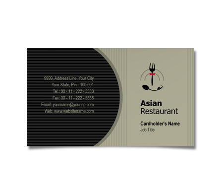 Complete Business Card  View with Layout For Asian Hotel
