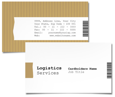 Complete Business Card  View with Layout For Transport Service