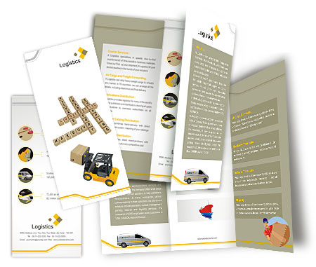 Complete Brochure  View with Layout For Logistics Company