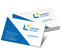 Business Card Templates Logistics Couriers Service