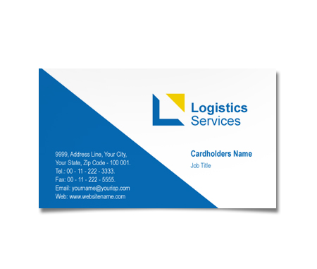 Complete Business Card  View with Layout For Couriers Service