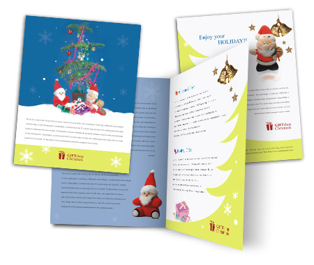 Complete Brochure  View with Layout For Christmas Gift