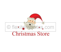 Stores & Shops Christmas Store logo-templates