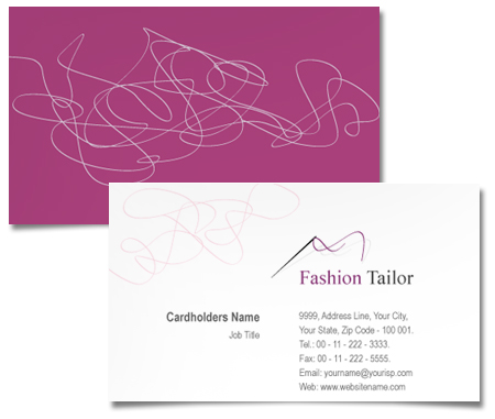 Complete Business Card  View with Layout For Fashion Tailor