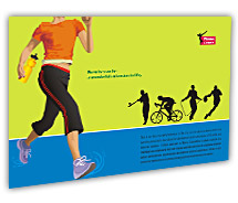 Sports Fitness Center post-card-templates