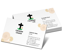 Social & Cultural Christian Churches business-card-templates