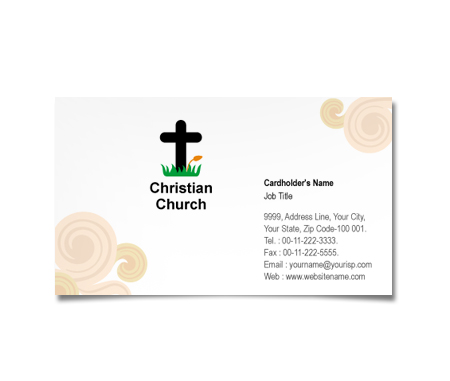 Complete Business Card  View with Layout For Christian Churches