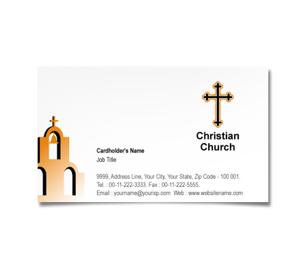 Complete Business Card  View with Layout For Christian Churche