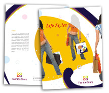Brochure Templates Fashion Women Clothes