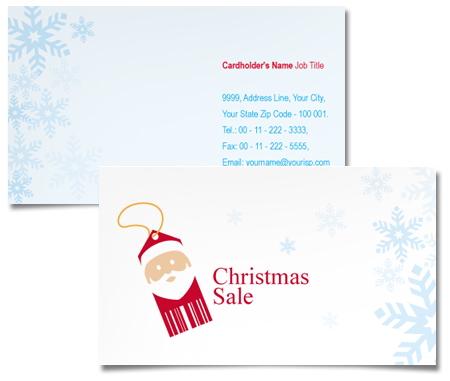Complete Business Card  View with Layout For Christmas Ideas