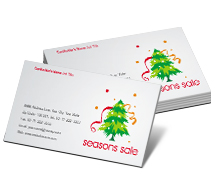 Stores & Shops Christmas Decorations business-card-templates