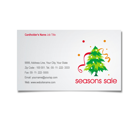 Complete Business Card  View with Layout For Christmas Decorations