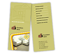 Brochure Templates the furniture stores
