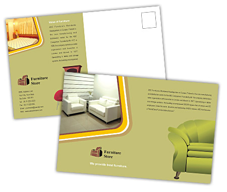 Complete PostCard s View with Layout For The Furniture Stores