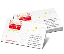 Stores & Shops New Year Sale business-card-templates