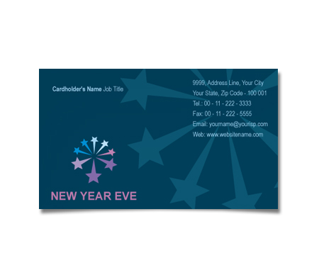 Complete Business Card  View with Layout For New Years Sales