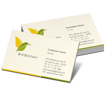 Business Card Templates bird sanctuary