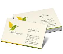 Business Card Templates bird sanctuary