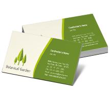 Business Card Templates botanical garden