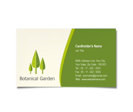 Complete Business Card  View with Layout For Botanical Garden