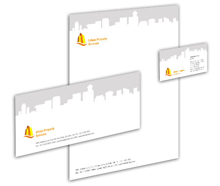 Complete Corporate Identity  View with Layout For Urban Properties