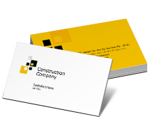 Construction House Construction Company business-card-templates