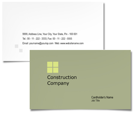 Complete Business Card  View with Layout For Tower Construction Companies