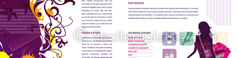 Actual Brochure  Design For Hair And Beauty Salon