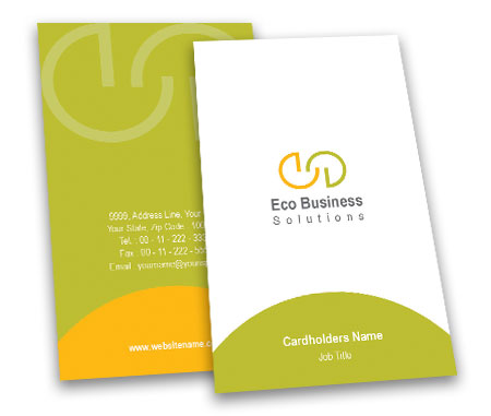 Complete Business Card View with Layout For Eco Business Solutions