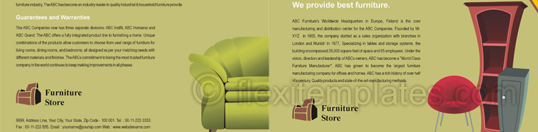 Actual Brochure  Design For Furniture Store