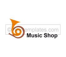 Logo Templates music shop